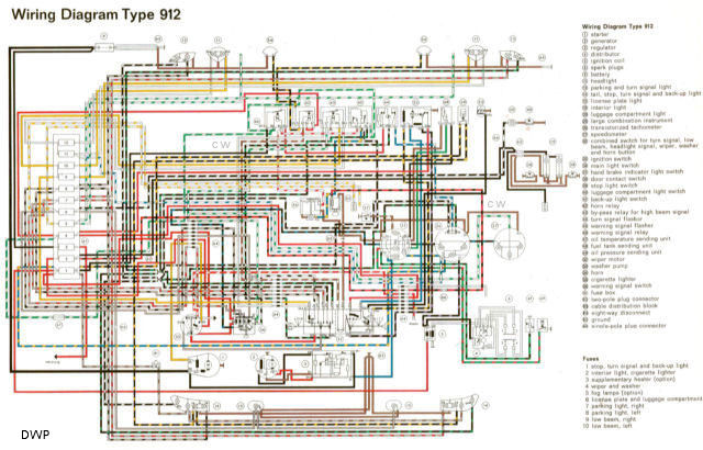 Enjoyable 1967 Porsche 912 Wiring Diagram Basic Electronics Wiring Diagram Wiring Digital Resources Bemuashebarightsorg