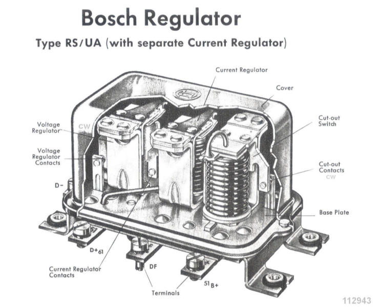 BCRegulator bosch electrical parts for 356 porsches 12 volt voltage regulator diagram at gsmx.co