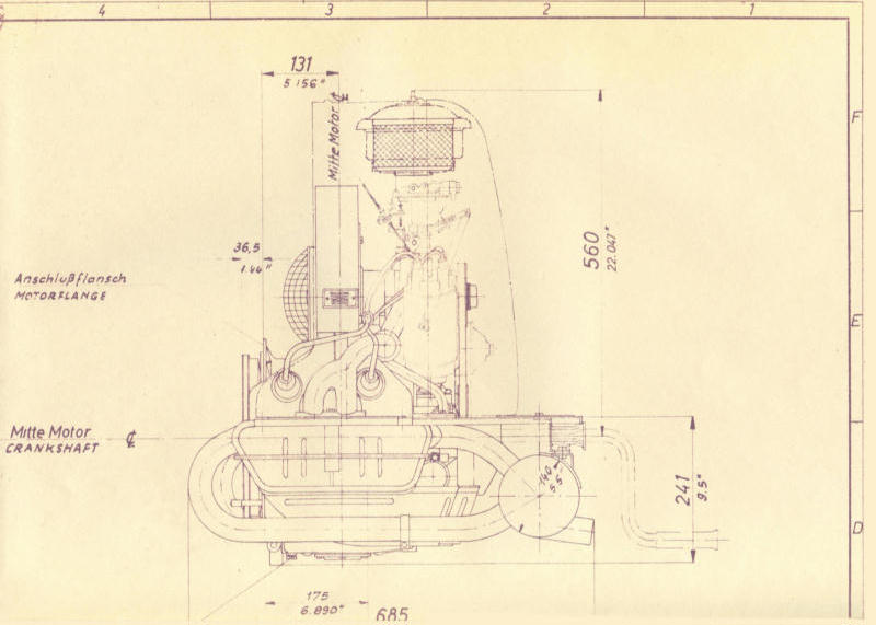porsche industrial motors late 50 s early 60 s technical drawings of porsche industrial engines included in the s binder