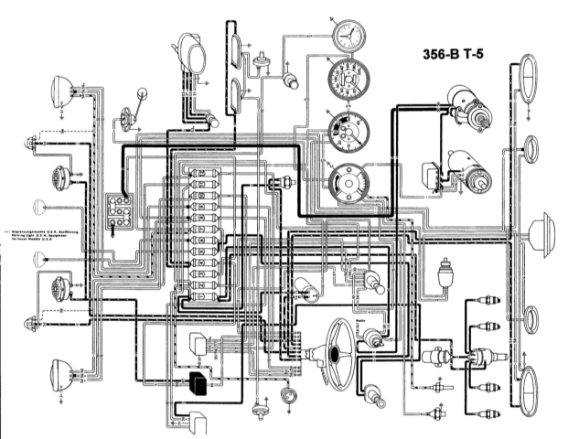 1964 porsche 356 wiring diagram
